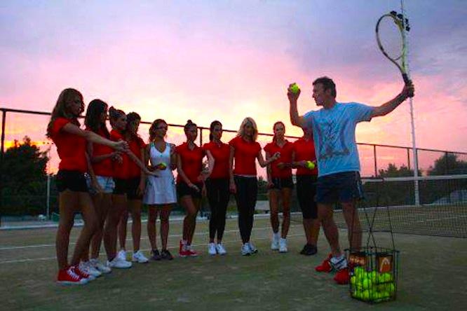 Group tennis lesson - Mili Split